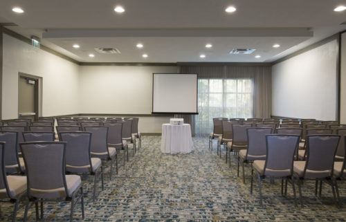 meeting room at Double Tree HIlton