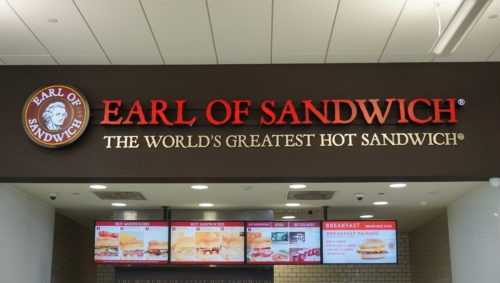 earl of sandwich at service plaza